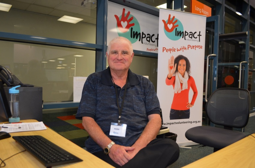 CAPTION:   Mark is Impact Volunteering's friendly volunteer Referral Officer.