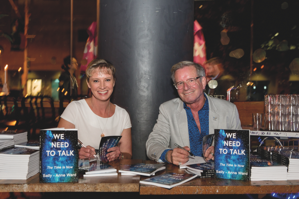 Sally-Anne Ward and   David M. Raynor sign copies of Sally-Anne's book We Need To Talk, which is based on David's screenplay and movie. Photo: Fi Byrne