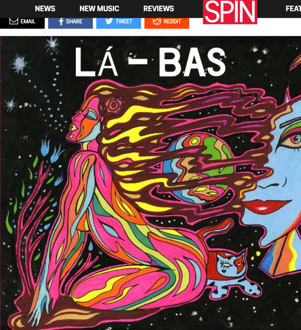 Write up in Spin Magazine from La-Bas' Self-Titled release - May 2015