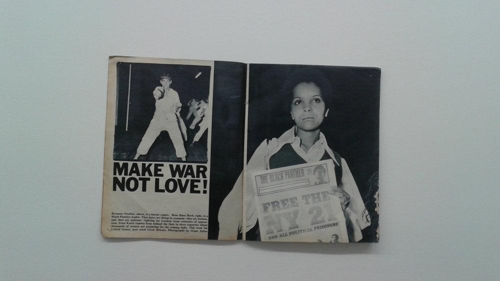 "Diane Arbus, ""Make War Not Love!"" Sunday Times Magazine (London), September 14, 1969"