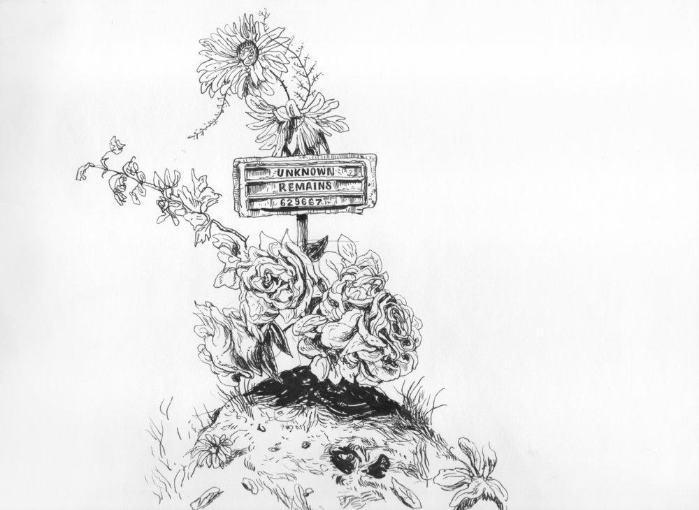 Drawing:From the series 26.2034° N, 98.2300° W,Vincent Valdez, vincentvaldezart.com, Instagram: vvaldez77