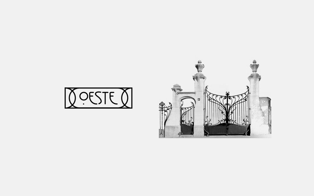 Logotype application. Inspired by the Art Nouveau metalwork