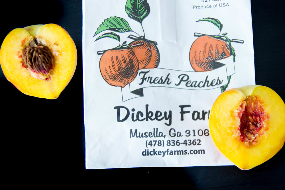 Fresh local peaches from Dicky Farms here in middle GA!