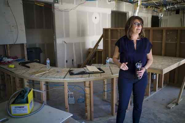 "Stephanie Klasky-Gamer, president of L.A. Family Housing, says she's ""beyond excited"" over the project. David Crane - Staff Photographer"
