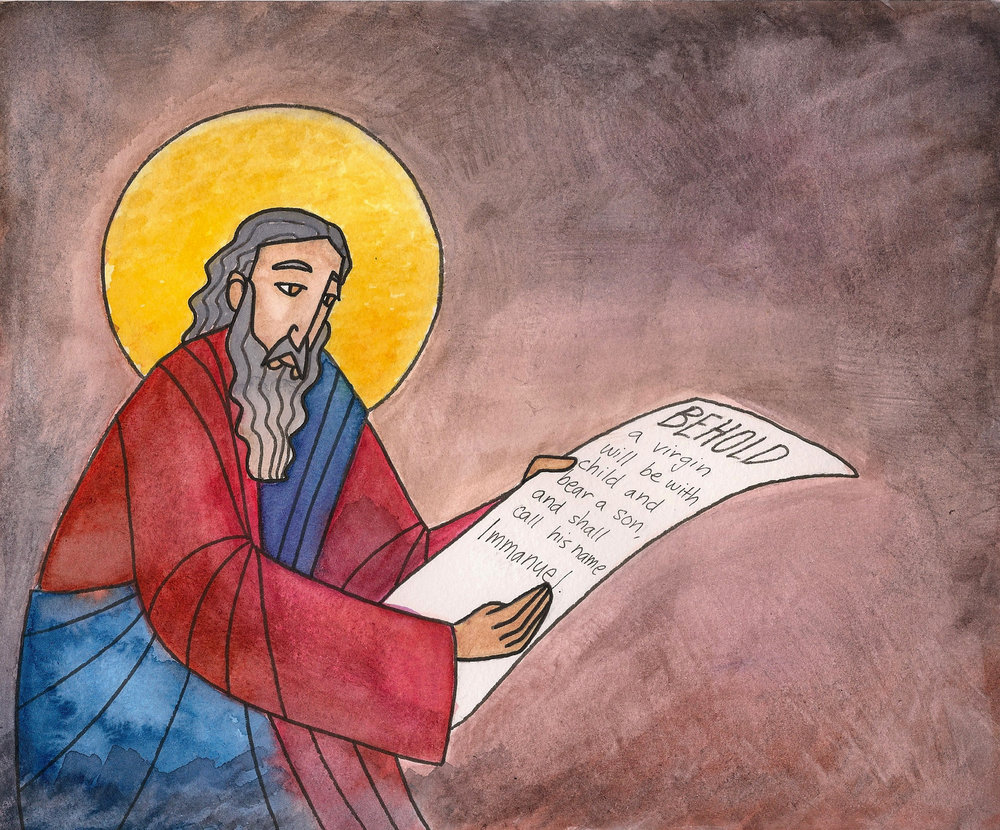 Prophet Isaiah Christmas Advent Art