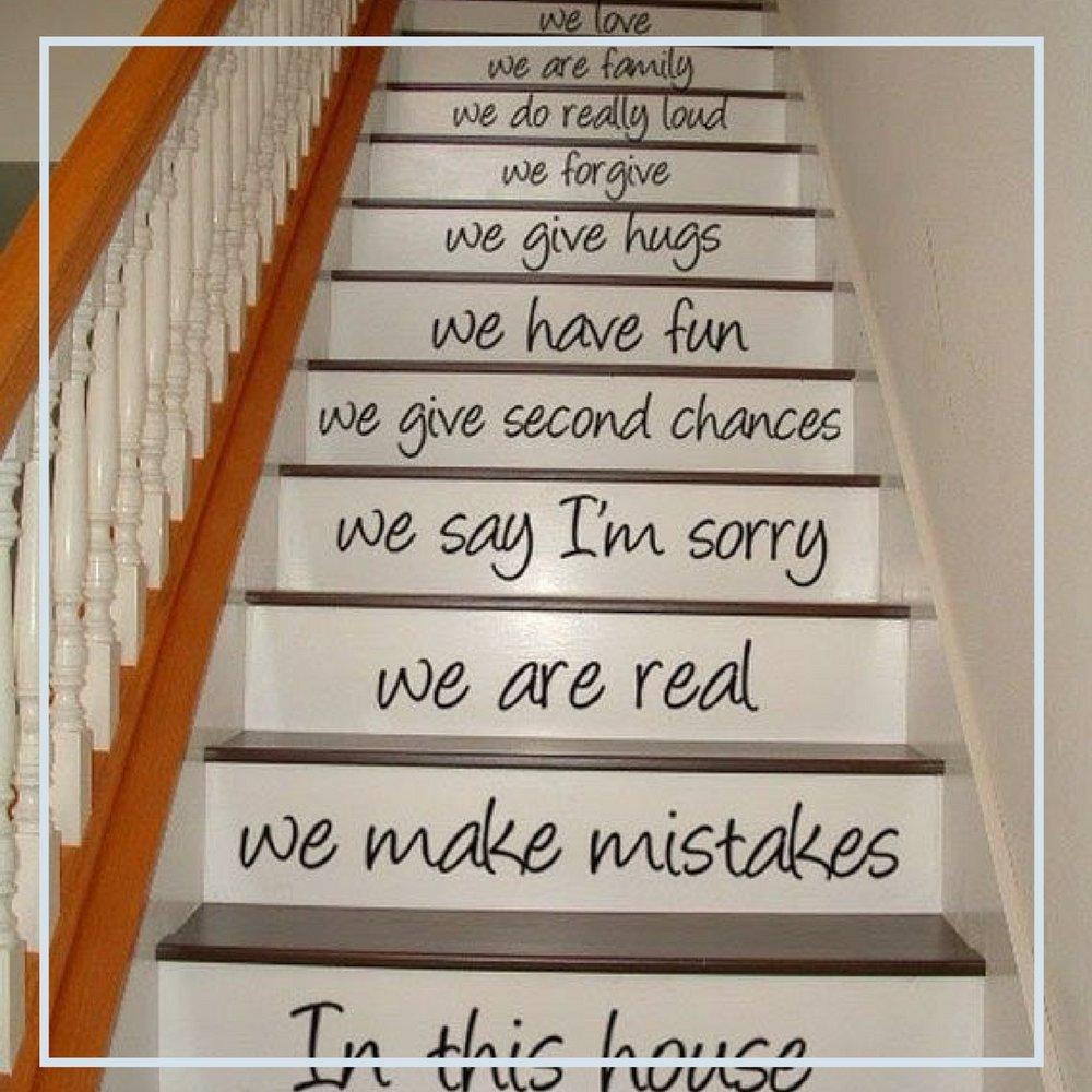 Escolha sua musica preferida ou aquele poema especial e escreva em sua escada. Com certeza, vc vai reviver boas lembranças.jpg