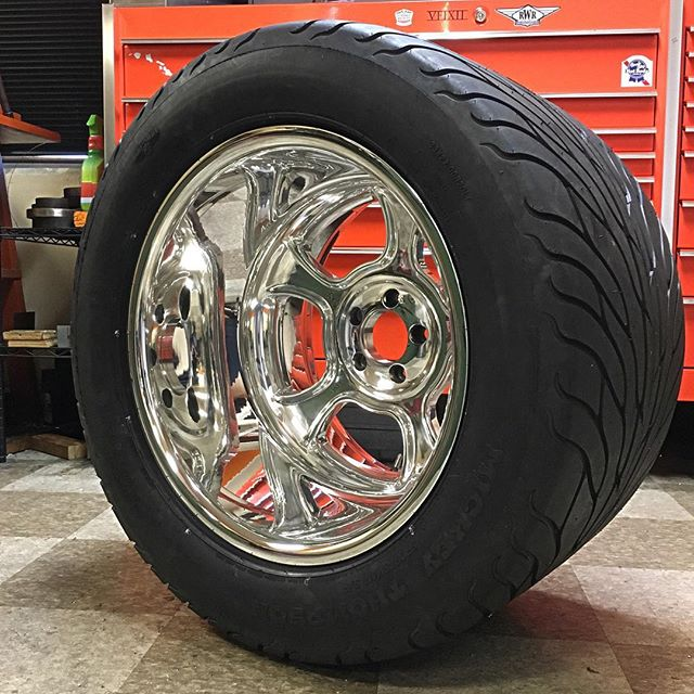 Just finished these monsters for a '60 El Camino! #billetwheels #mickeythompsons #masterpiece