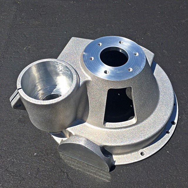 Finished my first billet bellhousing! What a fun and challenging part to cut! Can't wait to see the Beast IV finished! #webbautomotiveart #nhramuseum #billet