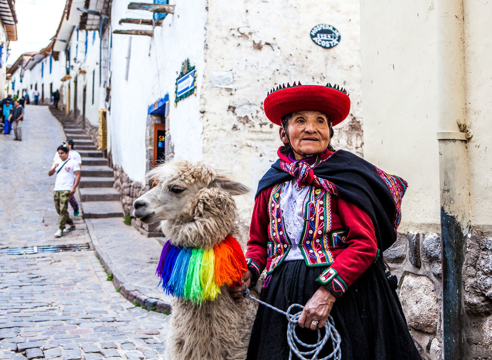 Cusco-Peru-wander-south-street-lady-with-llama.jpg