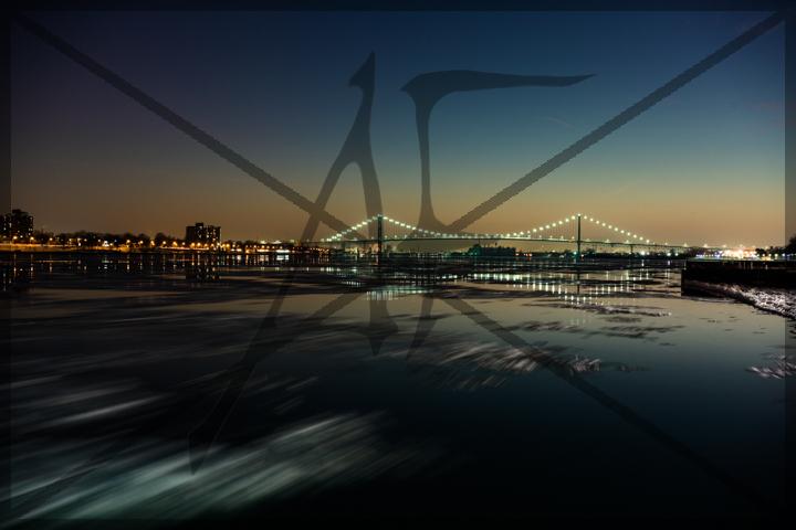 Ambassador Bridge - January 2016: Detroit, MI