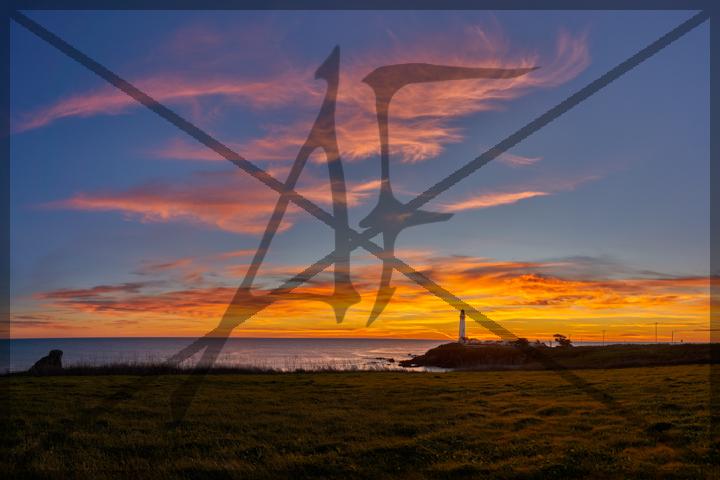 Lighthouse sunset - January 2019: Pescadero, CA