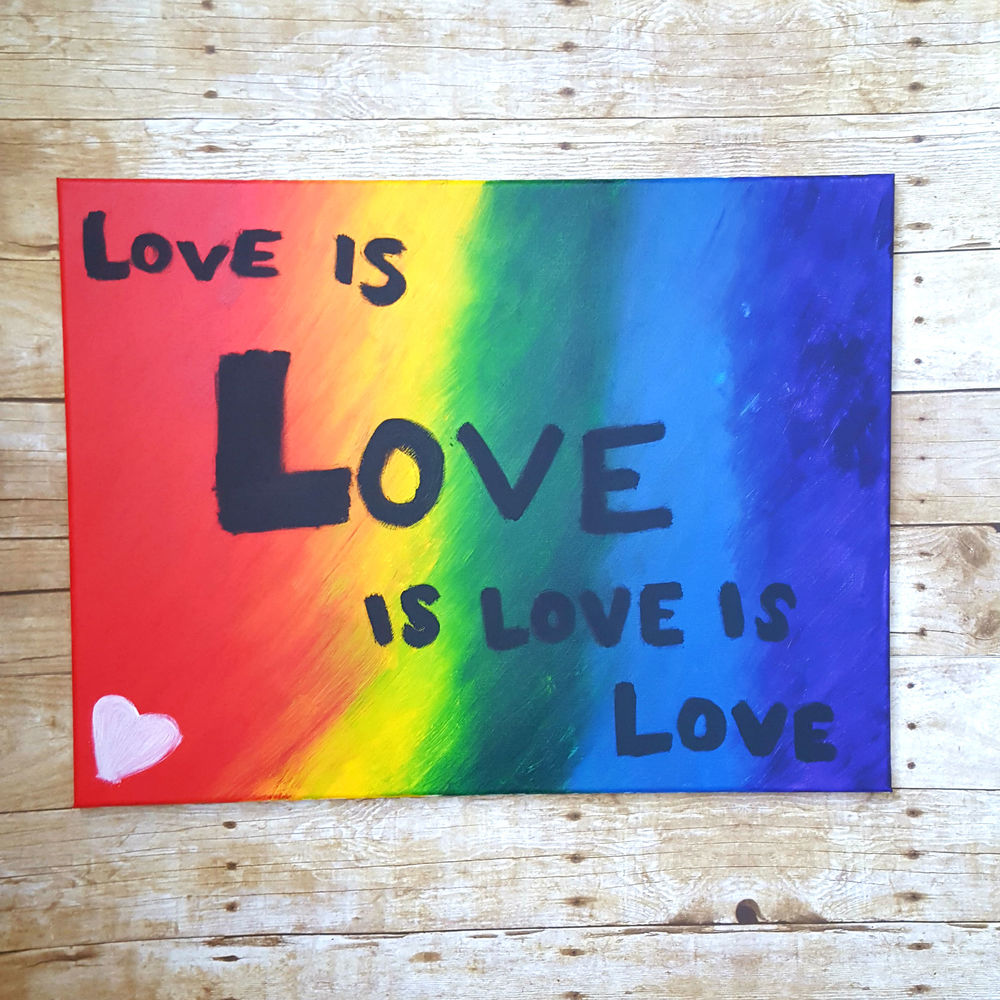Love is Love Original Acrylic Painting