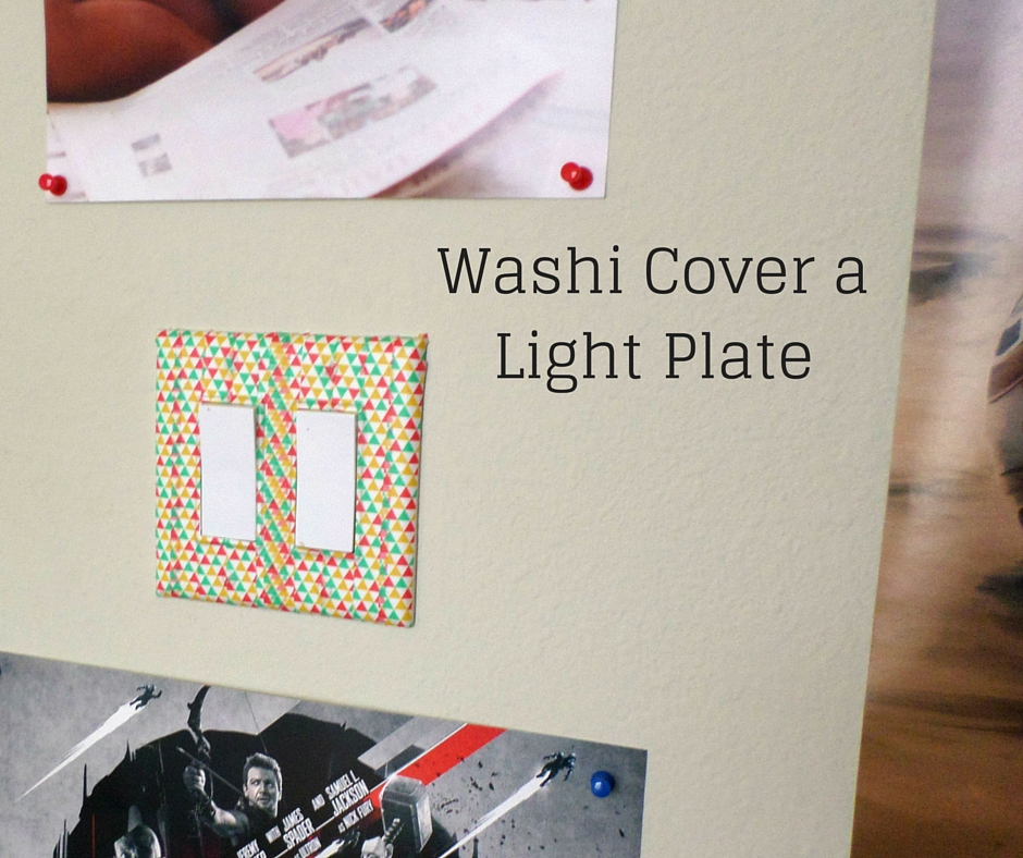 Washi tape light plate cover