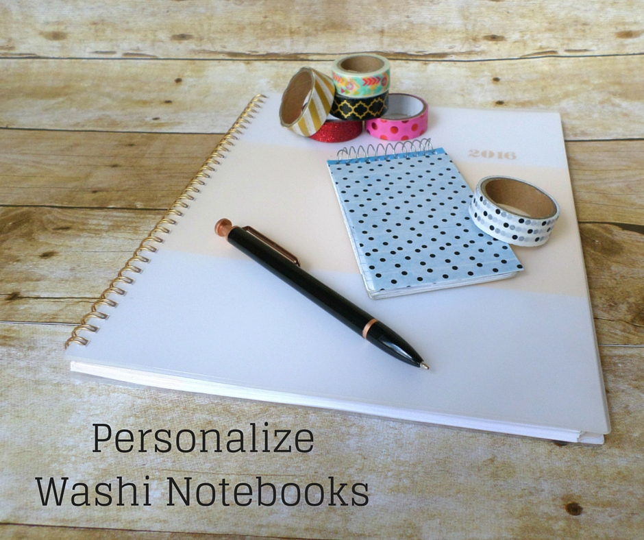 washi tape personalized journals
