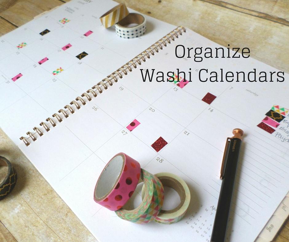washi tape calendar organization