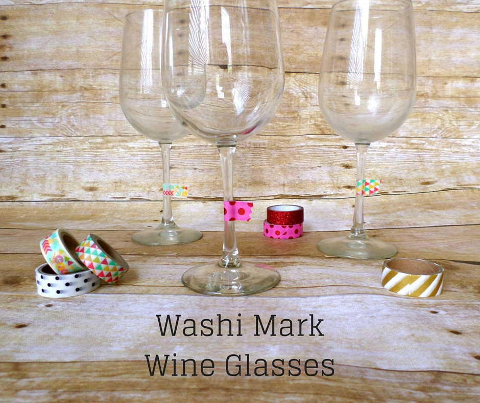 washi tape wine glass markers