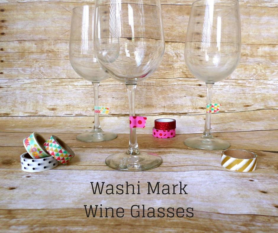 washi tape wine glass markers