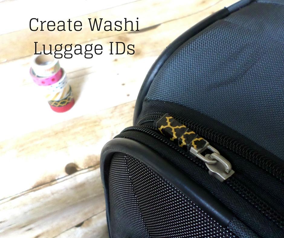 washi tape luggage id tag