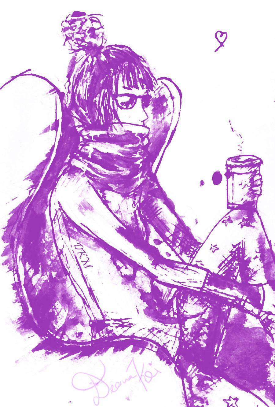 A self-sketch photo courtesy of Deanna Kei.