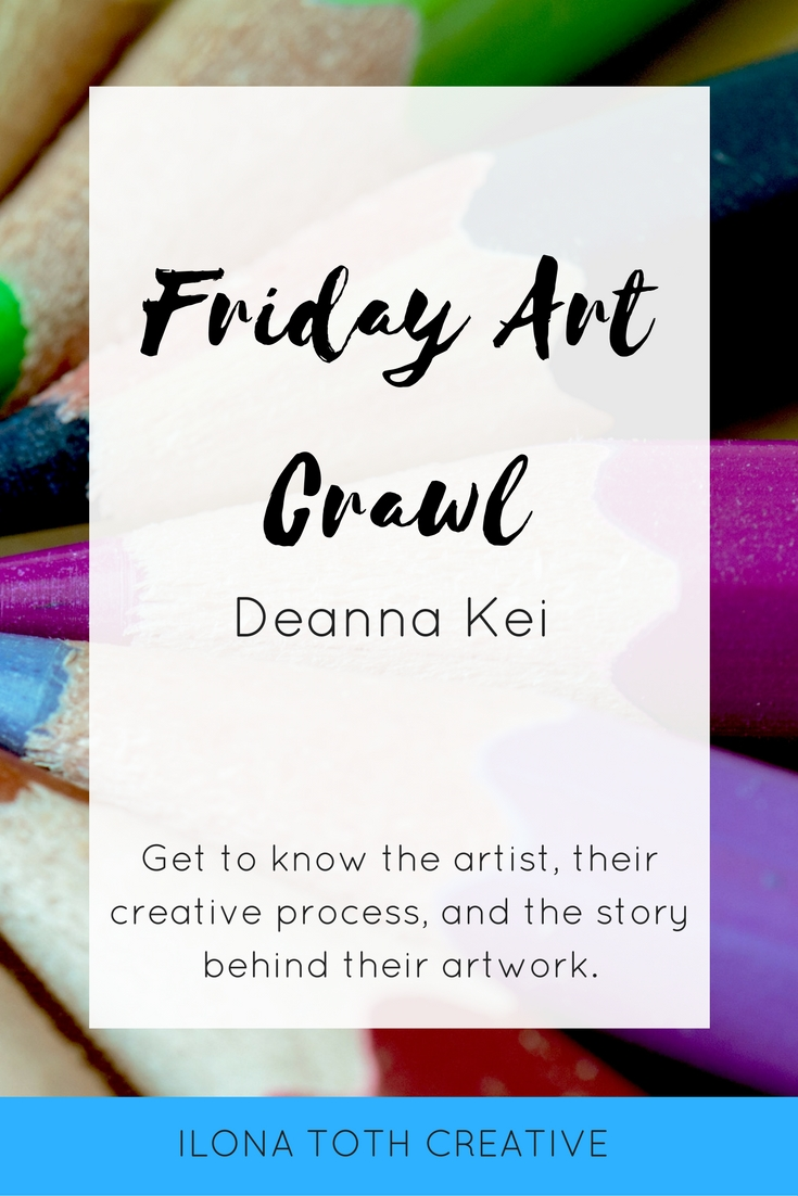Get to know another artist in this week's installment of Friday Art Crawl! Deanna Kei is a fashion illustrator, designer, and stylist. - Ilona Toth Creative