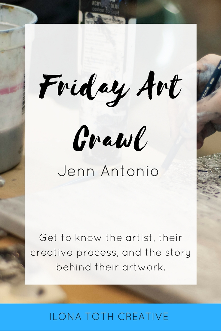 Jenn Antonio is this week's Friday Art Crawl featured artist. She paints portraits, does face paint, and magic! Read her feature and learn more. | Ilona Toth Creative