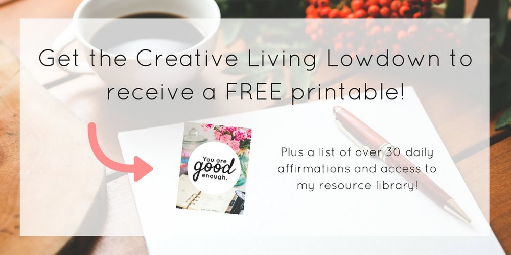 Download a free printable and list of over 30 daily affirmations. | Ilona Toth Creative