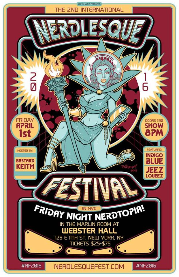 Artwork for the 2016 Nerdlesque Festival by Paigey