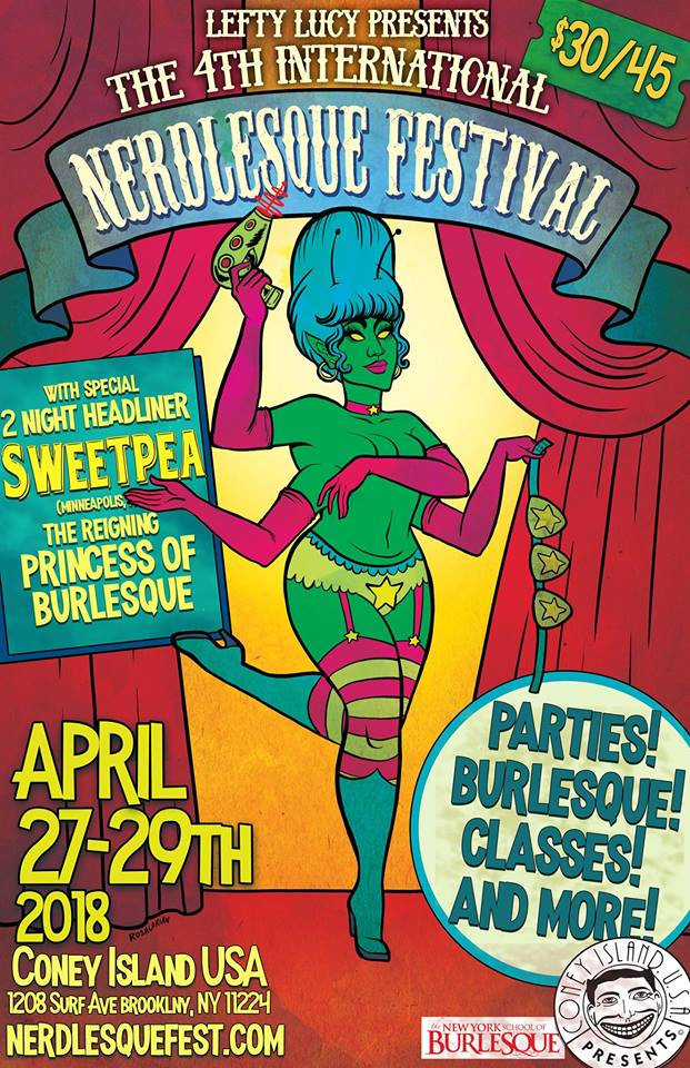 Artwork for the 2018 Nerdlesque Festival by  Rosalarian
