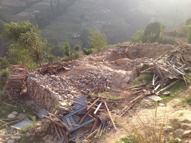 This photo was taken by Graeme Howell on his very first trip out to some of the worst affected regions in Nepal.