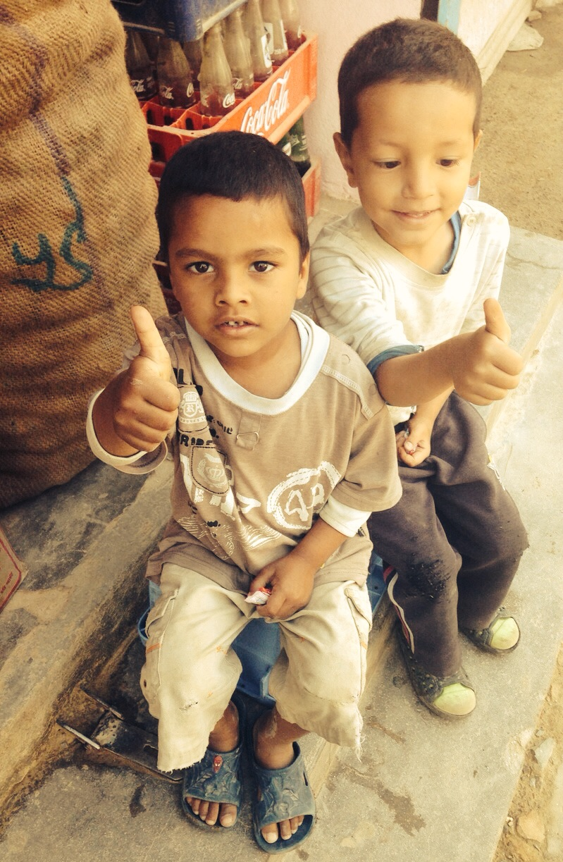 These two little boys caught Graeme's heart - he saw them sitting on the street and asked if they were ok.. this was their reponse