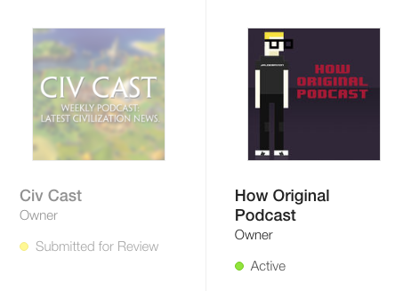 Civ Cast iTunes Submission