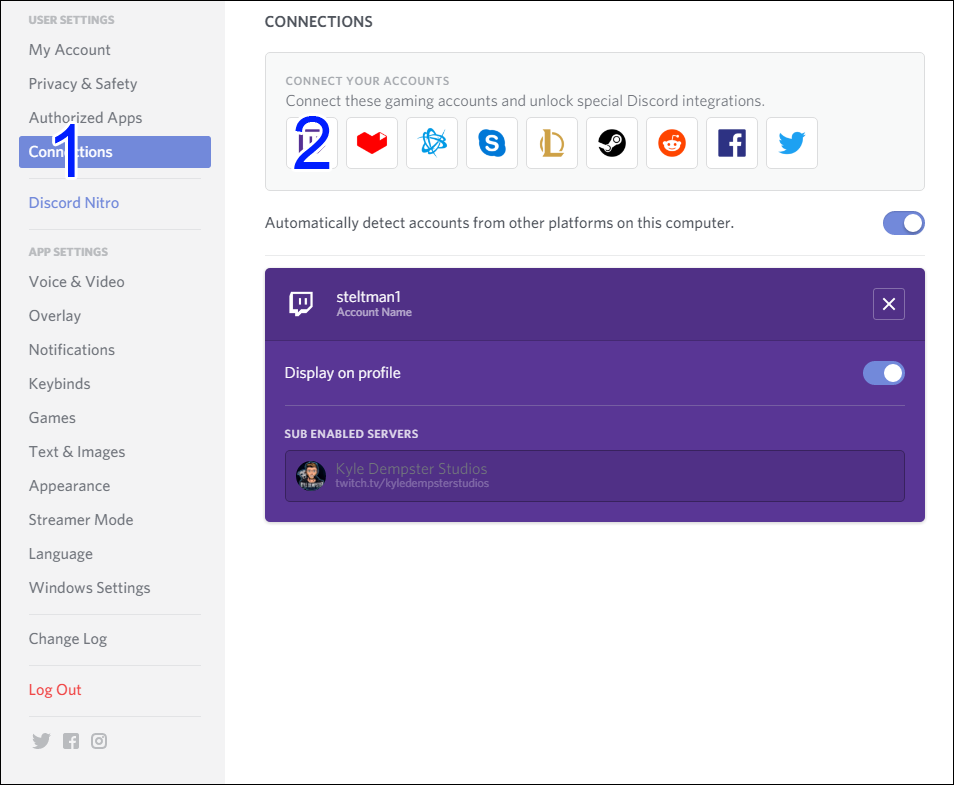 KDS Discord Twitch Link