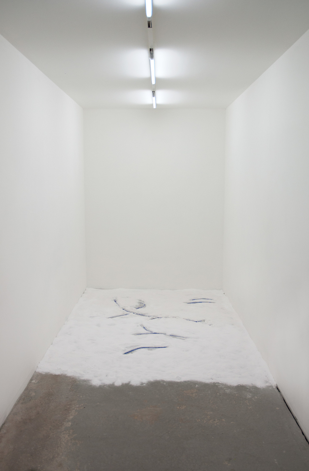 Free Sea, 2014 sea salt, acrylic paint  at  Flake  / Photo Kate Meakin