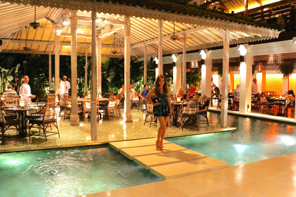 Before leaving the restaurant, we took one last shot of this stunning place. The floating pavilion dining room behind me, holds large groups and the long walkway dining room on the right holds smaller tables. Request to sit right on the edge so you can see everything and hear the peaceful pitter patter of water. There is also a bar here which I would skip as there are plenty of other great spots to hit up not too far from here.