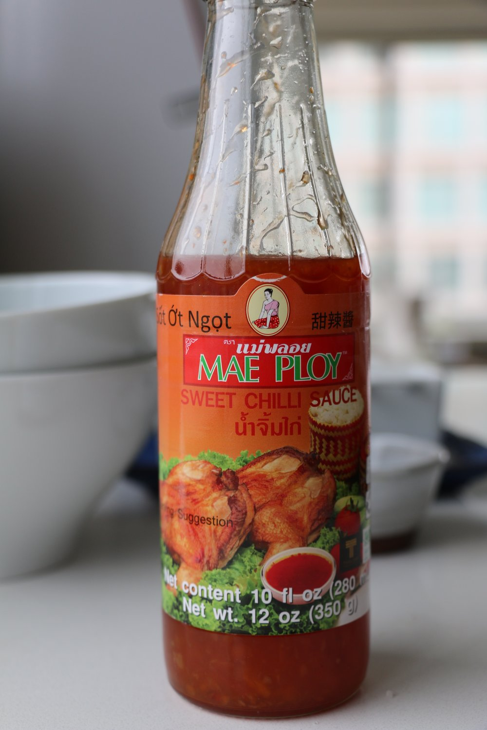 This is the Thai Sweet Chili Sauce I used for my Mini Tofu Veggie Cakes but you can use other sauces. You can find this sauce in any local Asian Market.