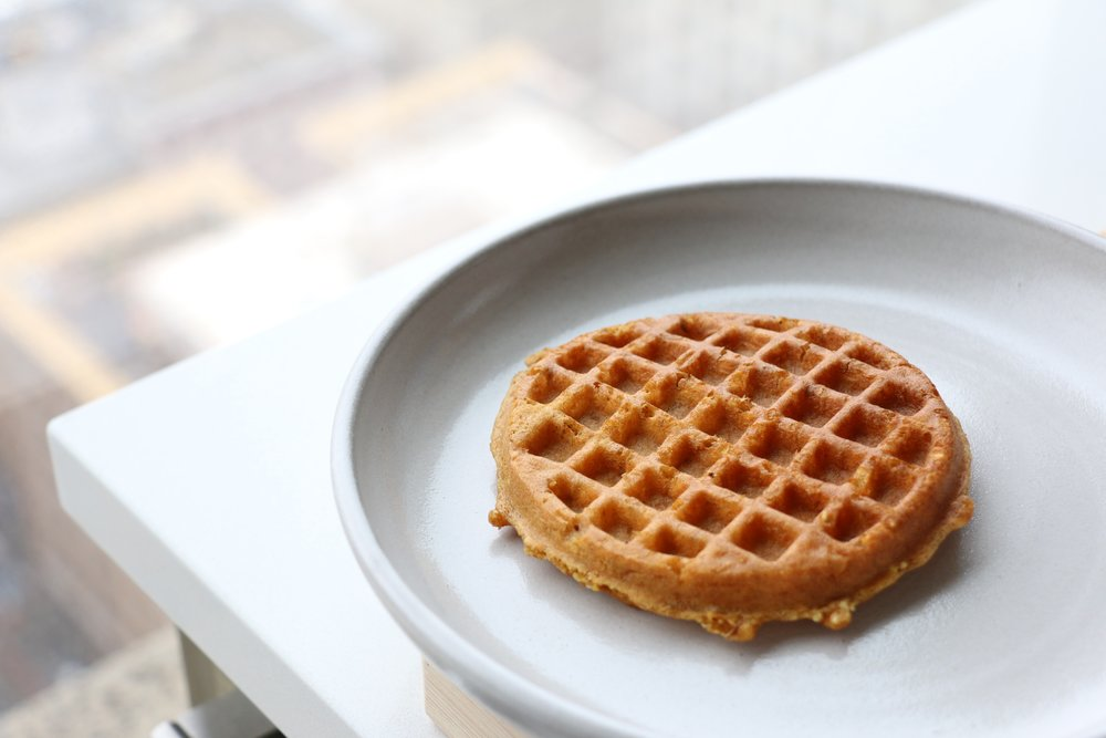 Our lovely Gluten Free Pumpkin Spice Waffle with quinoa, amaranth, and flax