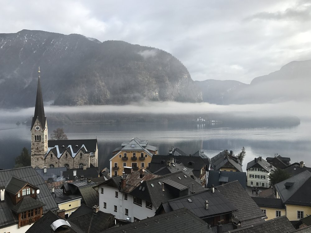 Overhead view of Hallstatt