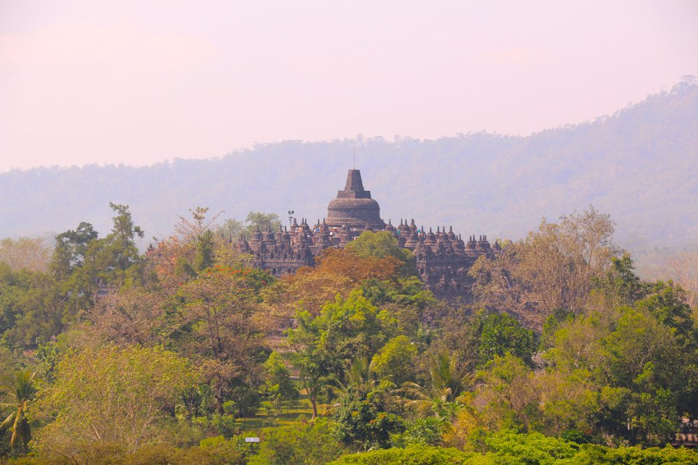 Our direct Borobudur Temple view from our picnic