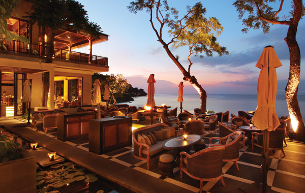 Grab a drink at Sundara during sunset
