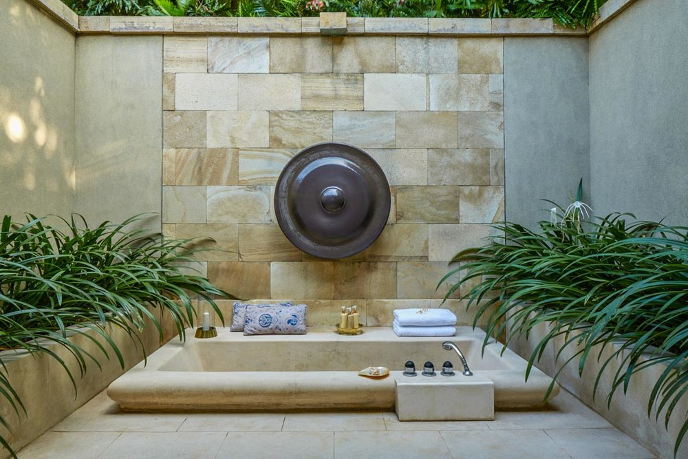 Your outdoor sunken tub