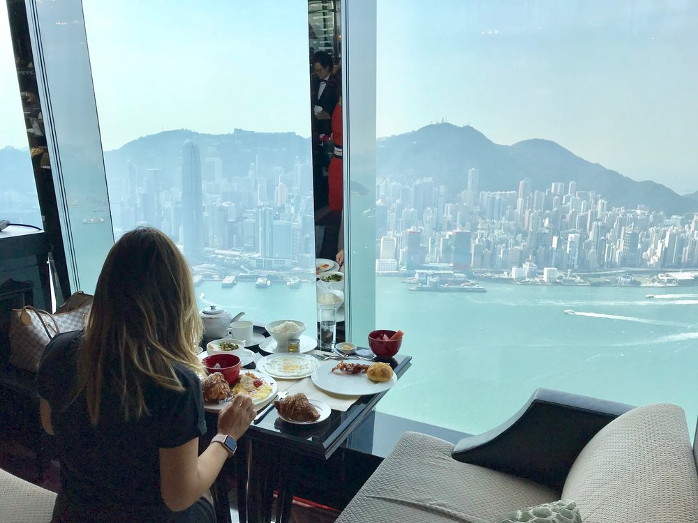 The Ritz Breakfast is comprehensive and unbeatable. You can find food from Western cuisines to Asian Cuisine, all to be enjoyed sitting in front of this view.