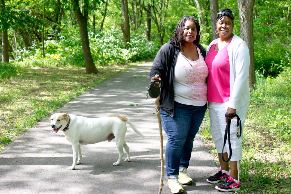"""""""I'm Nikki and I'm a grad student at MICA, and all I'm doing is walking the dogs with my mom."""""""