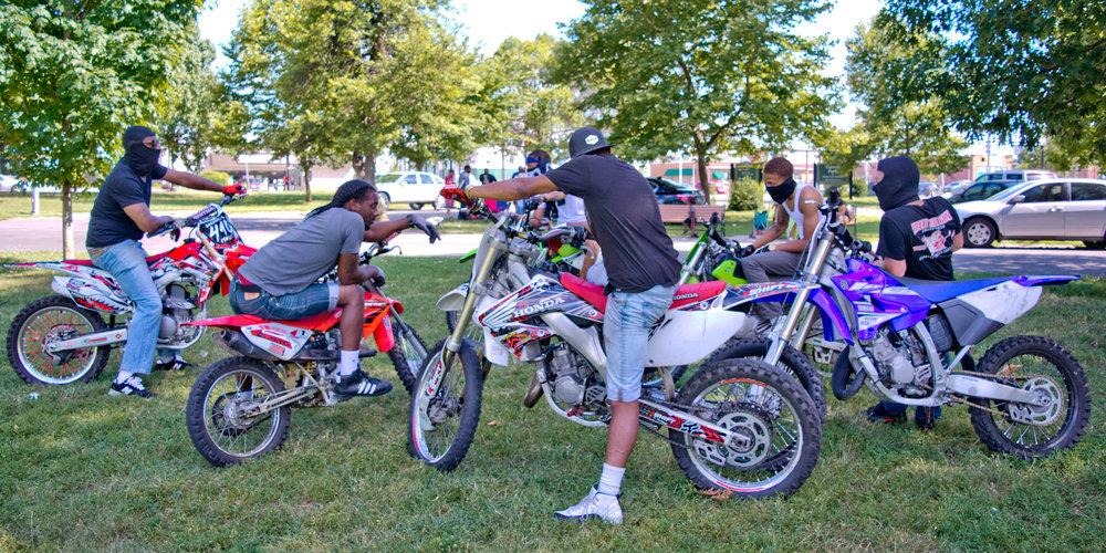 """Bikes up, guns down!""  12 O'Clock Boys Neighborhood: Carroll Park"