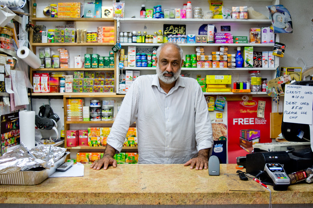 """We sell Halal meat for 20 years in this commuity. So many varieties for our kind, and we have a local business. People are using lentils, spices, veggies, and fruits.""  Neighborhood: Waverly"