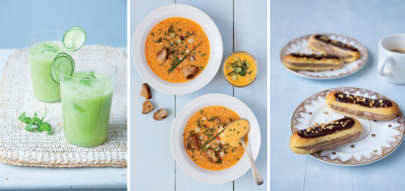 Fish soup with rouille sauce, green smoothies, and chocolate éclairs are just a sample of the hundreds of delicacies that can be made with the new Magimix Cook Expert. Photos ©Sandra Mahut