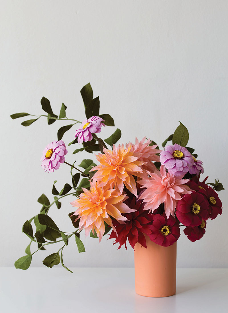 How To Zinnia Paper Flowers Abode Magazine