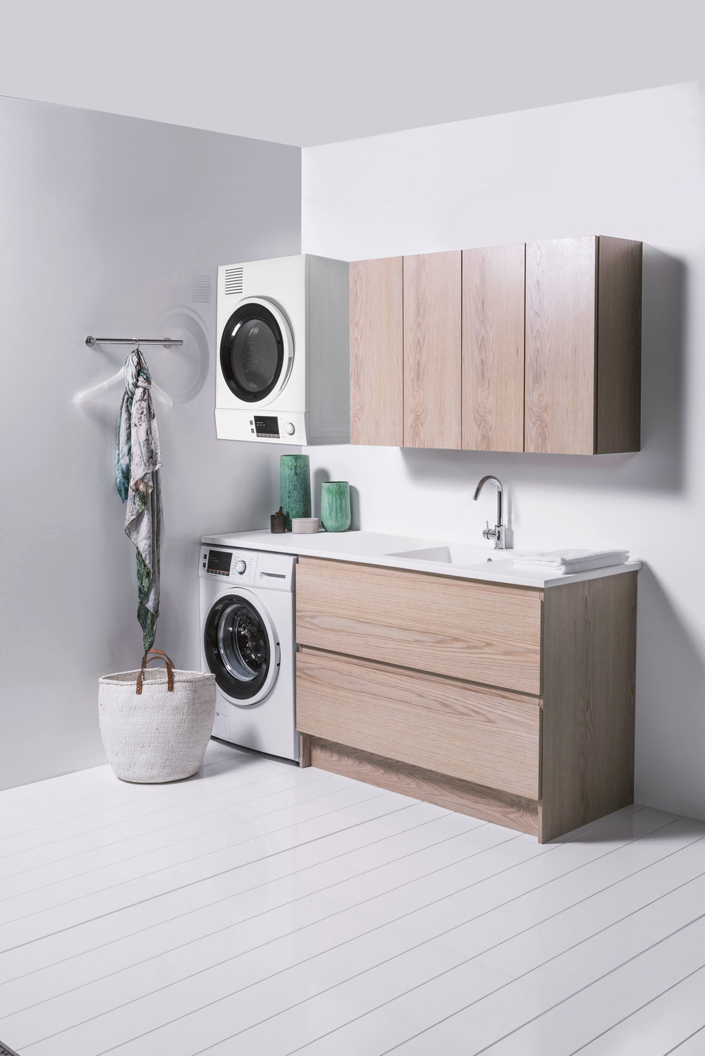 Bath Co Laundry range in Blonde Oak.