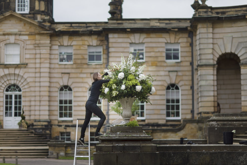 In Water Flowers Castle Howard Wedding