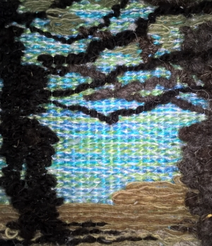 Sardinia 1 - 25.5cm x 25.5cm - woven: silk, wool and monofilament