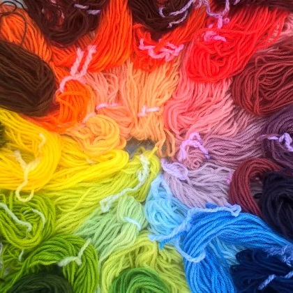 Yarns dyed at Introduction to Act